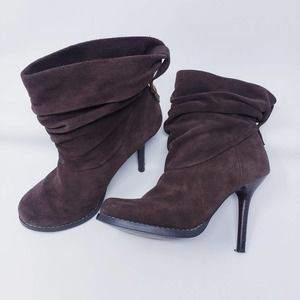 Fergie Ruckus Slouchy Ankle Boots Brown Size 7M